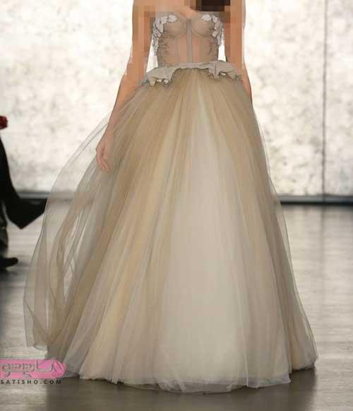 جدیدترین و شیک ترین لباس عروس شیری رنگ