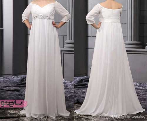 مدل لباس عروس جدید ساده بدون پف