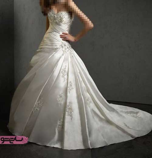جدیدترین و شیک ترین مدل لباس عروس پشت بلند ساتن