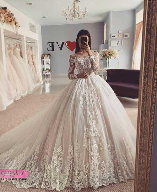 انواع لباس عروس جدید ایرانی