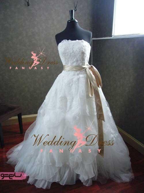 مدل لباس عروس شیک اروپایی