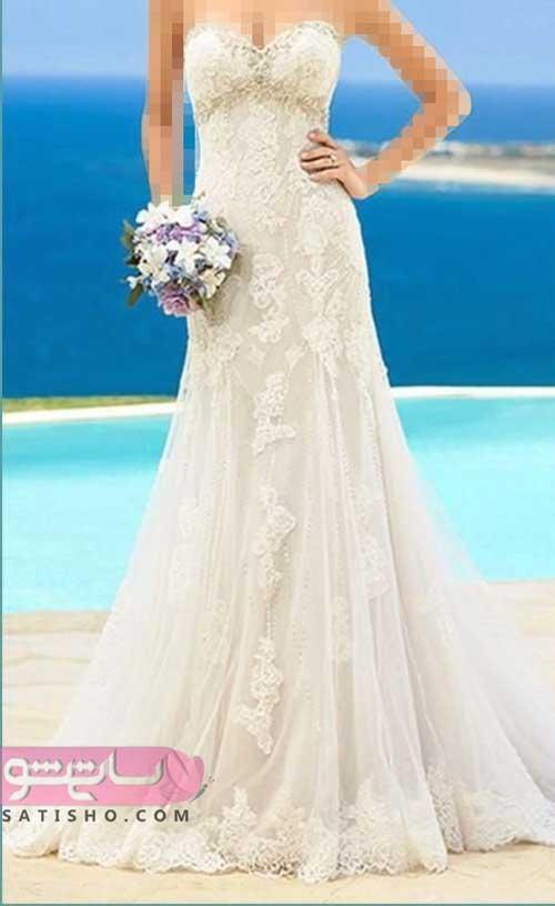 مزون لباس عروس سایز بزرگ پنل دار