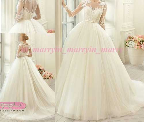 انواع مدل لباس عروس زیبا