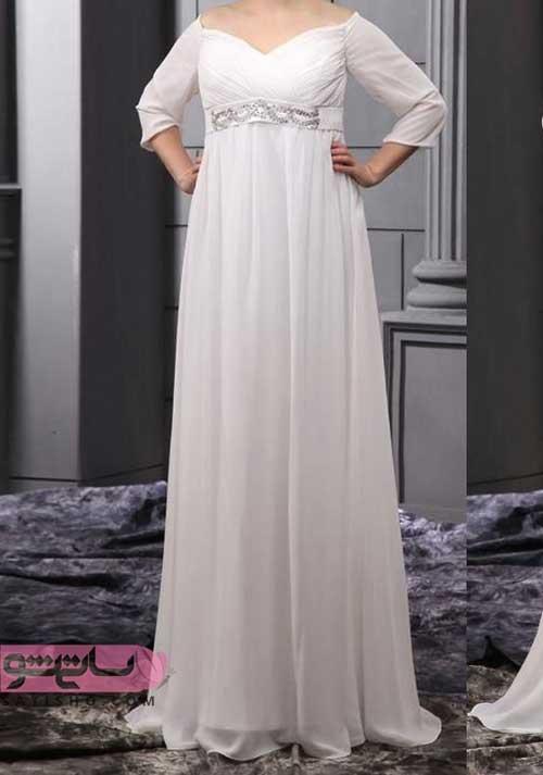 لباس عروس سایز بزرگ 2019 گشاد