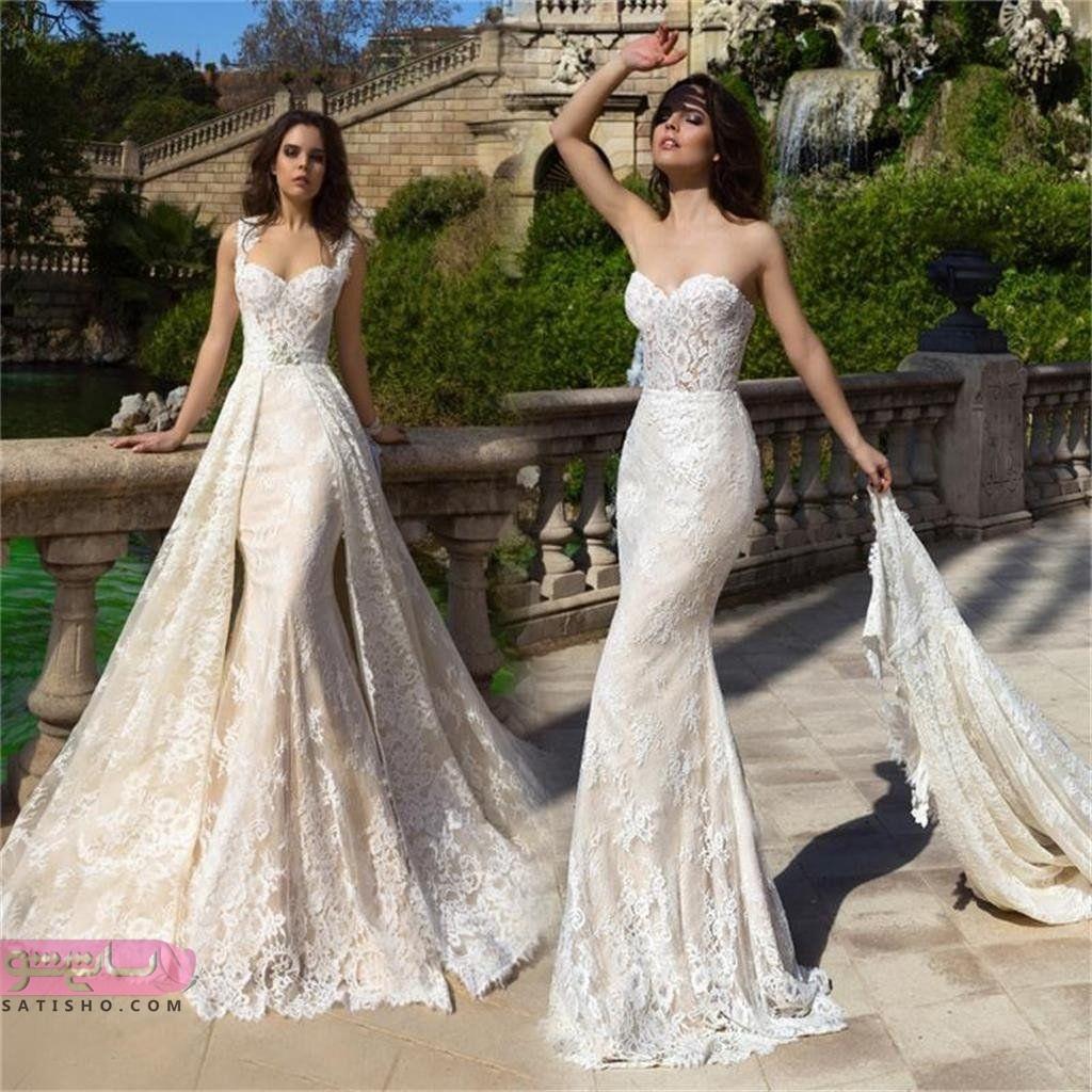 لباس عروس سایز بزرگ مشهد شنل دار