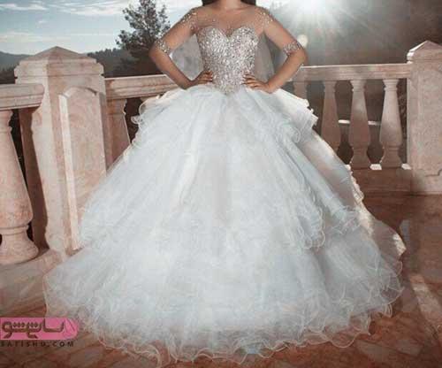 لباس عروس سایز بزرگ توری