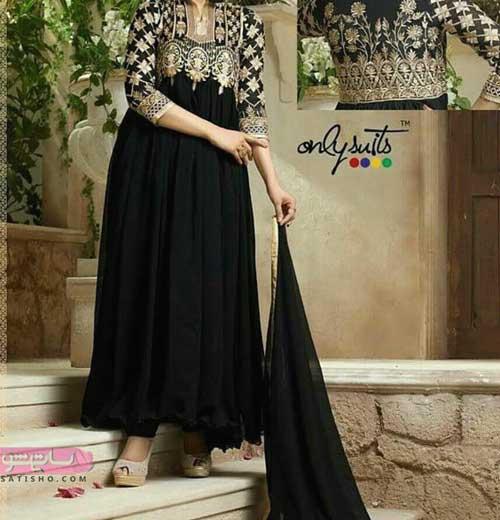 مدل لباس هندی دخترانه رنگ مشکی