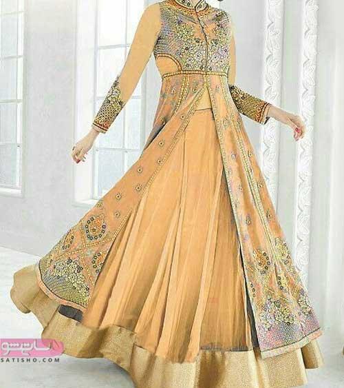 مدل لباس هندی مجلسی دامن کلوش