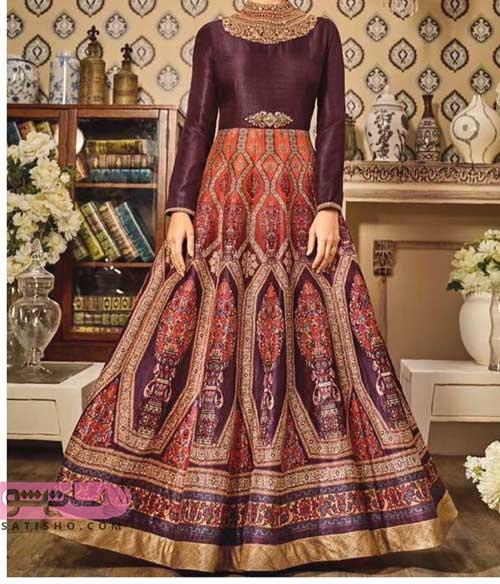 مدل لباس هندی دخترانه با ساتن