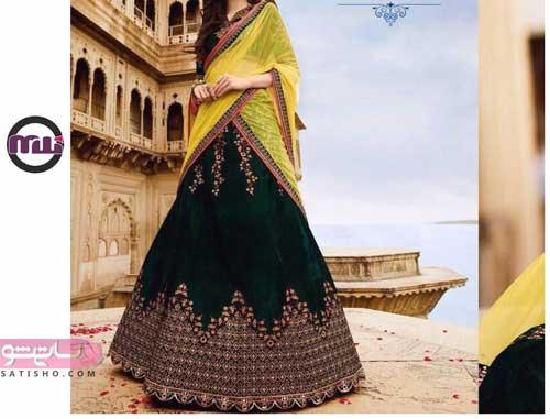 شیک ترین مدل لباس های هندی با شال