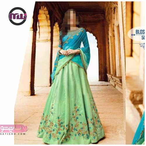 مدلهای لاکچری لباس هندی گلدوزی شده