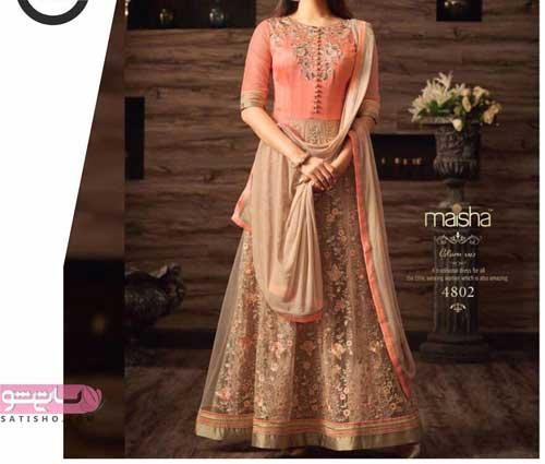 لباس هندی با دامن شیک و زیبا
