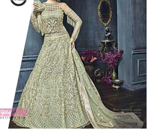 لباس عروس هندی 2020 منجوق دوزی شده