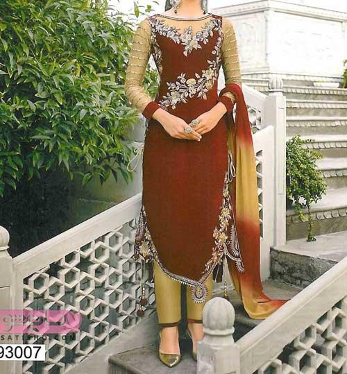 عکس هایی از مدل لباس هندی با گیپور