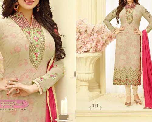 شیک ترین لباس هندی عروس مدرن و رنگ روشن