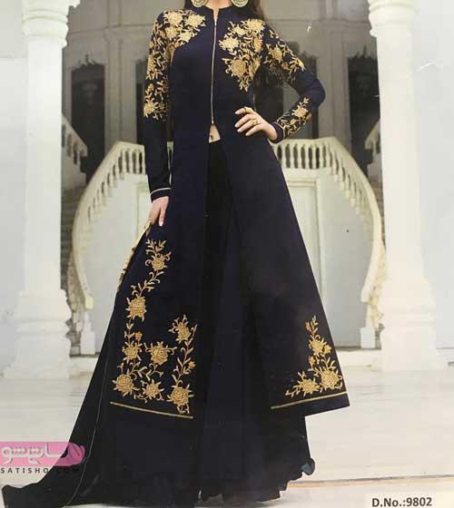 مدل لباس هندی شیک مشکی رنک