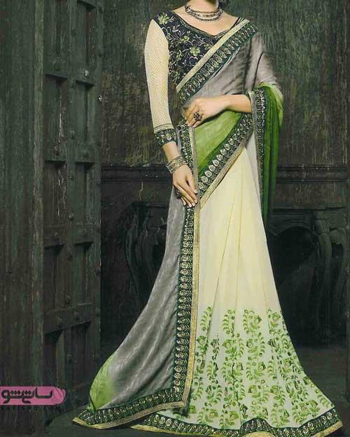 مدل لباس مجلسی هندی رنگ سبز