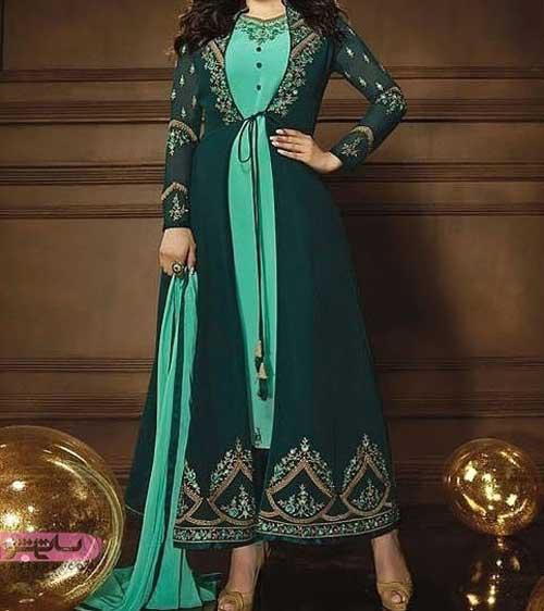 لباس مجلسی هندی شیک بلند