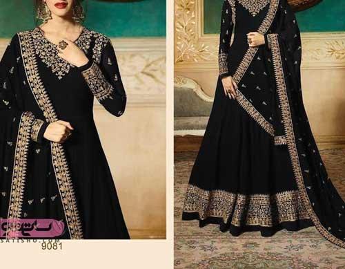 انواع لباس هندی مجلسی شیک مشکی رنگ