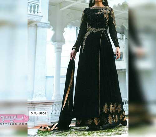 لباس هندی مشکی رنگ خوشگل