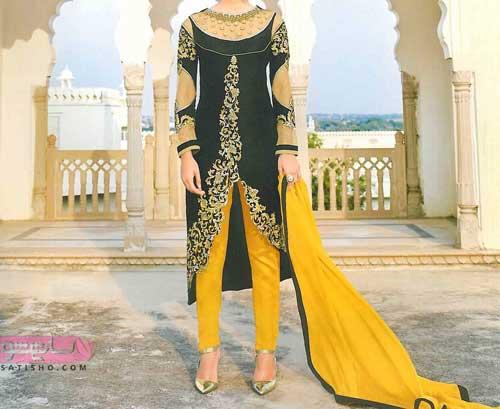 انواع طرح های متنوع مدل لباس های جدید هندی دخترانه