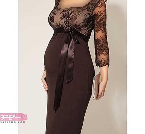 تصویر مدل لباس بارداری مناسب تولد