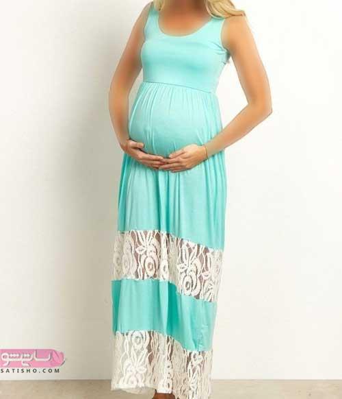 الگو دوخت لباس بارداری مجلسی