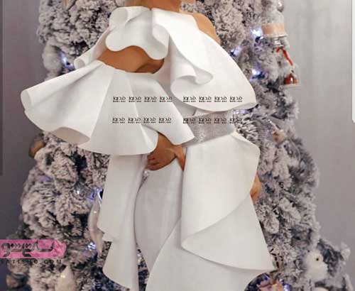 عکس لباس مجلسی بارداری 2019
