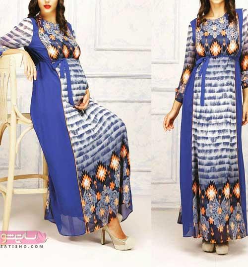 ایده هایی زیبا برای دوخت لباس مجلسی بارداری