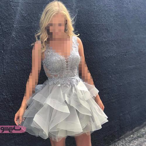 شیک ترین و جدیدترین مدل لباس مجلسی کوتاه دخترانه