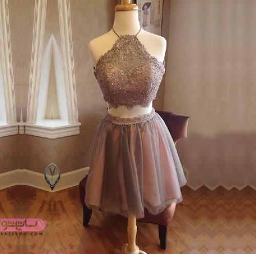 شیک ترین مدل های لباس مجلسی کوتاه دخترانه
