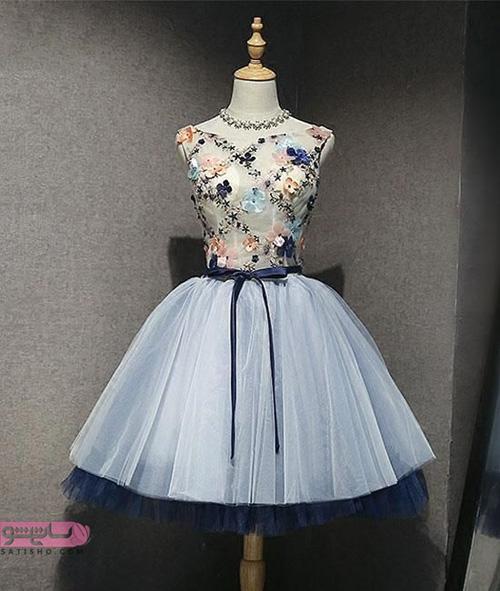 عکس لباس مجلسی کوتاه دخترانه