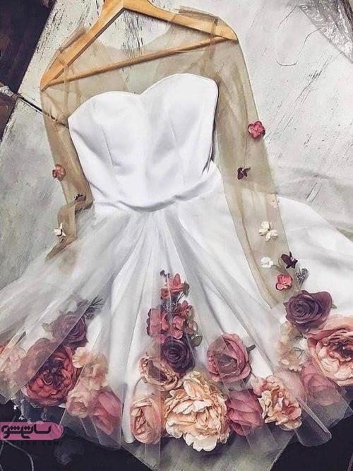 شیک ترین لباس های مجلسی کوتاه دخترانه