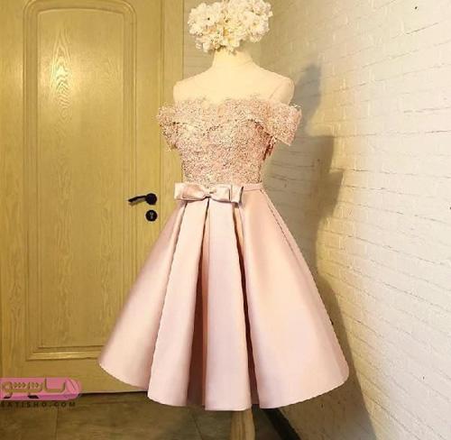 شیک ترین مدل لباس مجلسی کوتاه دخترانه