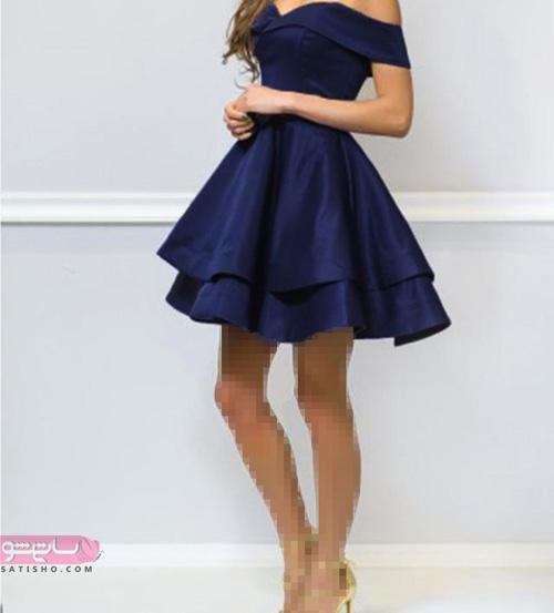 انواع لباس مجلسی کوتاه دخترانه جدید