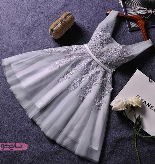مدل لباس مجلسی کوتاه دخترانه 2019