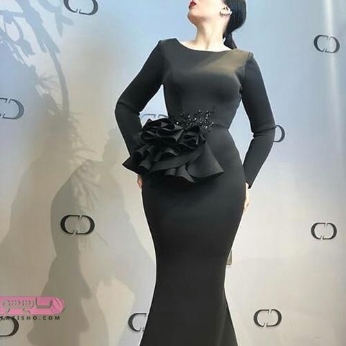 50 عکس مدل لباس مجلسی مشکی با طرح های ژورنالی