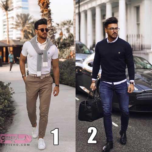 مدل لباس مردانه کلاسیک 98 در دو رنگ تیره و روشن