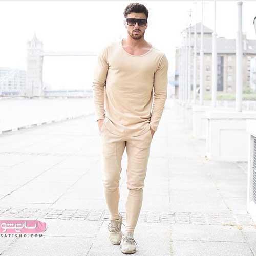 عکس مدل لباس مردانه زمستانی 98 کرم رنگ