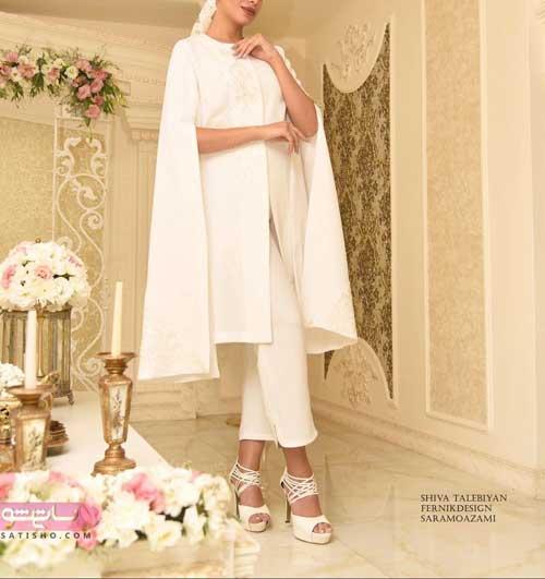 عکس مانتو مجلسی برای عروسی رنگ روشن