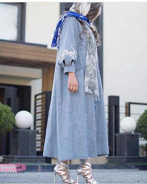 مدل مانتو بلند دخترانه 98 طرح لی جدید