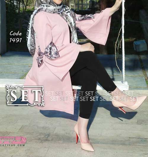 مدل مانتو مشکی بلند زیبا