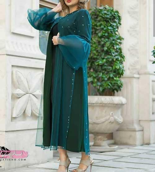 مدل مانتو کلوش بلند زیبا