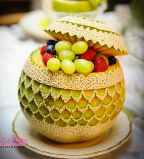 مدل میوه آرایی با سیب
