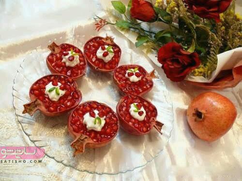 انواع میوه آرایی با انار 98 و 2019