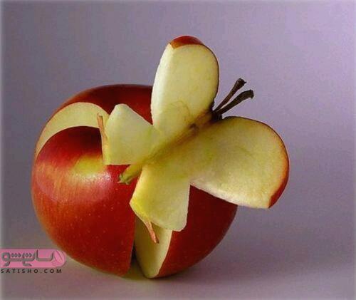 مدل میوه آرایی با سیخ چوبی