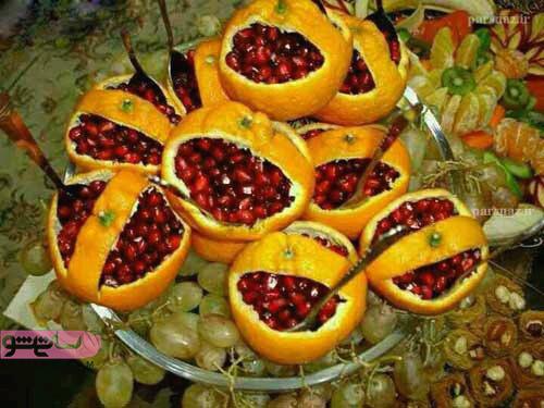 انواع میوه آرایی یخچال عروس 98 و 2019
