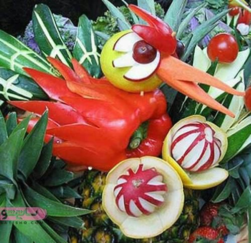 تصاویر میوه آرایی برای یلدا
