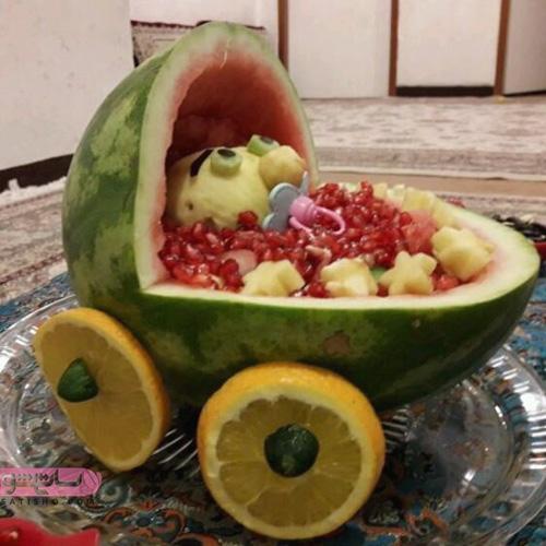 مدل میوه آرایی برای شب یلدا