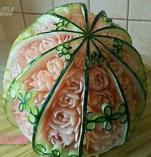 مدل میوه آرایی یخچال عروس